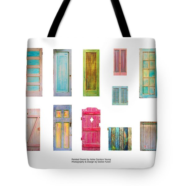 Painted Doors And Window Panes Tote Bag