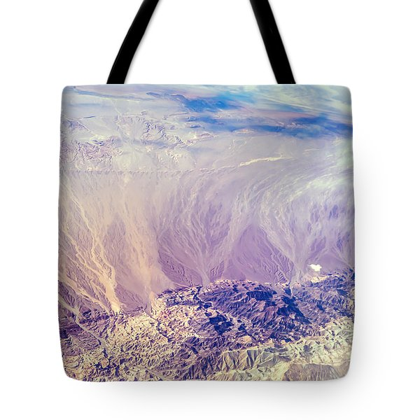 Painted Earth I Tote Bag by Jenny Rainbow