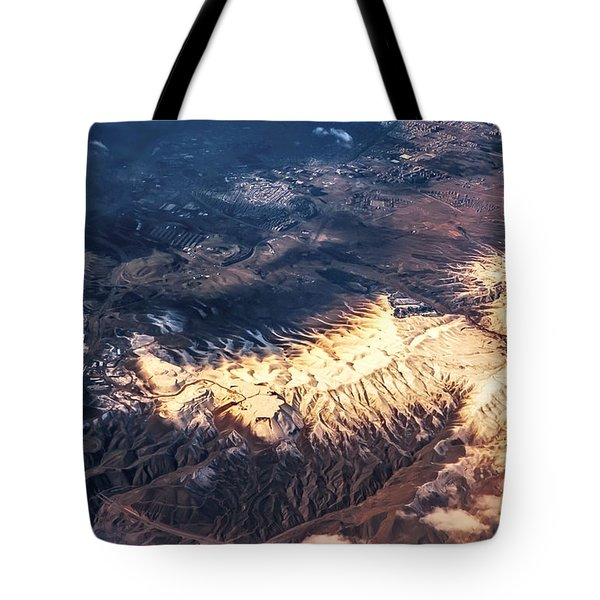 Painted Earth Iv Tote Bag by Jenny Rainbow