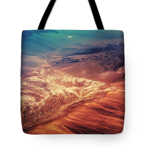 Painted Earth Tote Bag by Jenny Rainbow