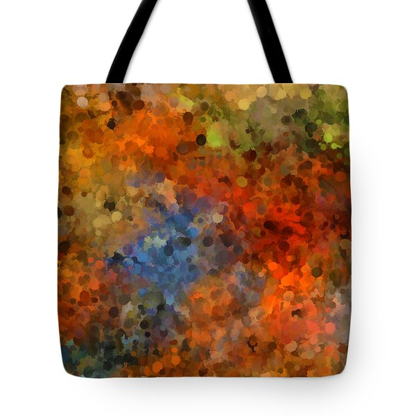 Painted Fall Abstract Tote Bag