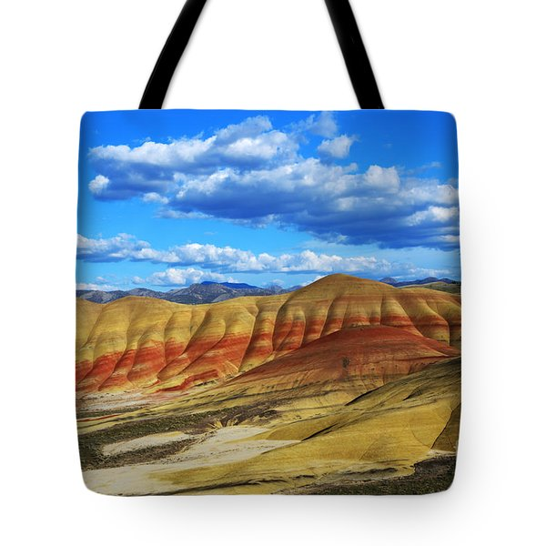 Painted Hills Blue Sky 3 Tote Bag by Bob Christopher