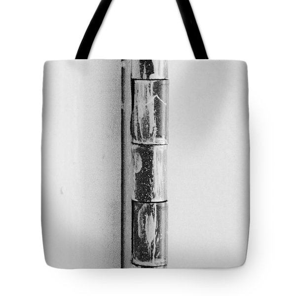Painted Hinge In Black And White Tote Bag by Rob Hans