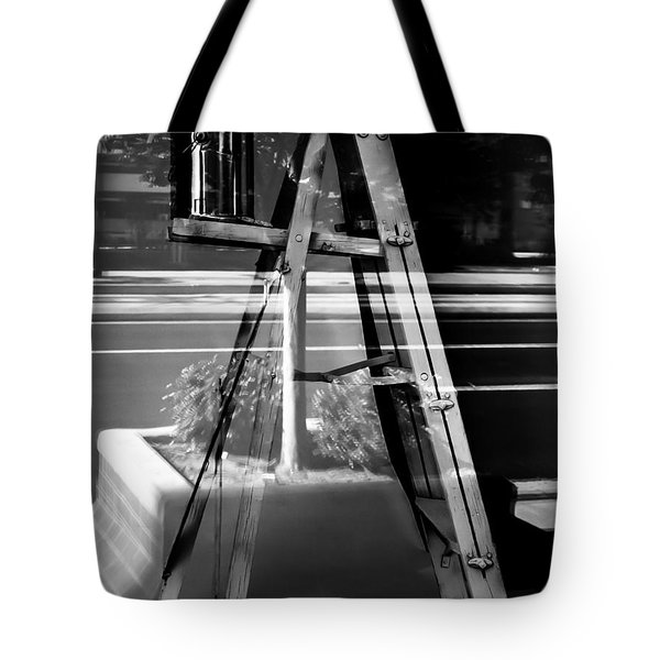 Tote Bag featuring the photograph Painted Illusions - Abstract by Steven Milner