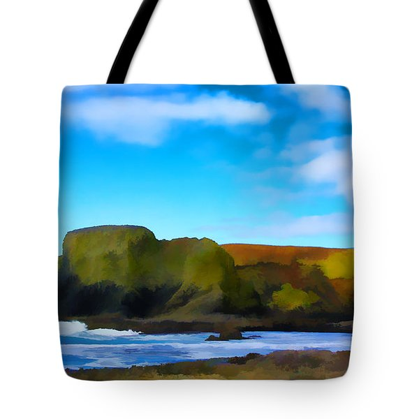 Painted Lighthouse Tote Bag by Steve McKinzie