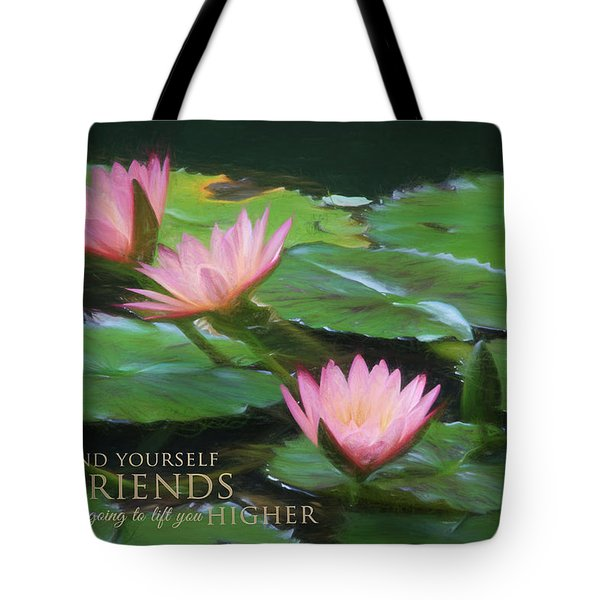 Painted Lilies With Message Tote Bag