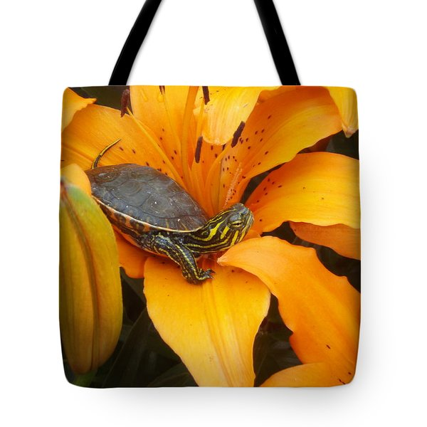 Tote Bag featuring the photograph Painted Lilly by James Peterson