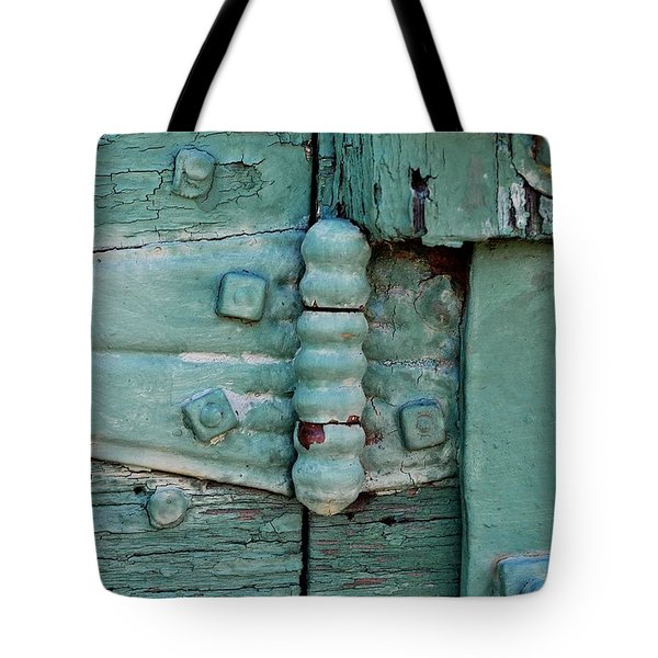 Painted Metal And Wood Tote Bag