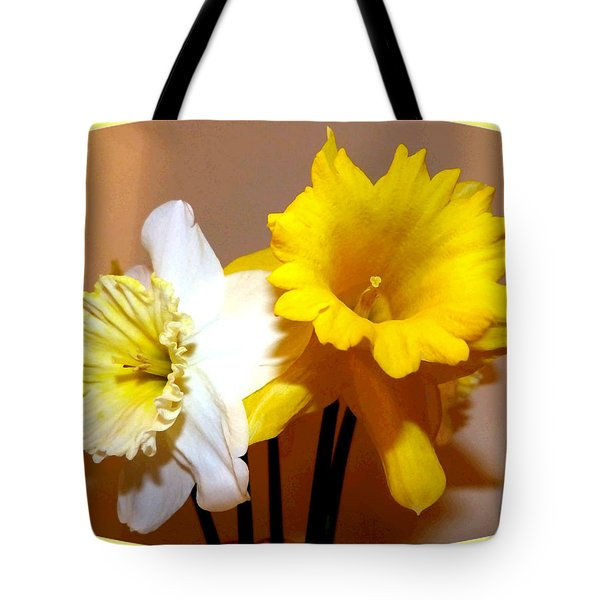 Painted Okanagan Daffodils Tote Bag by Will Borden