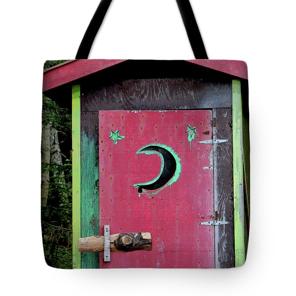 Painted Outhouse Tote Bag by Art Block Collections