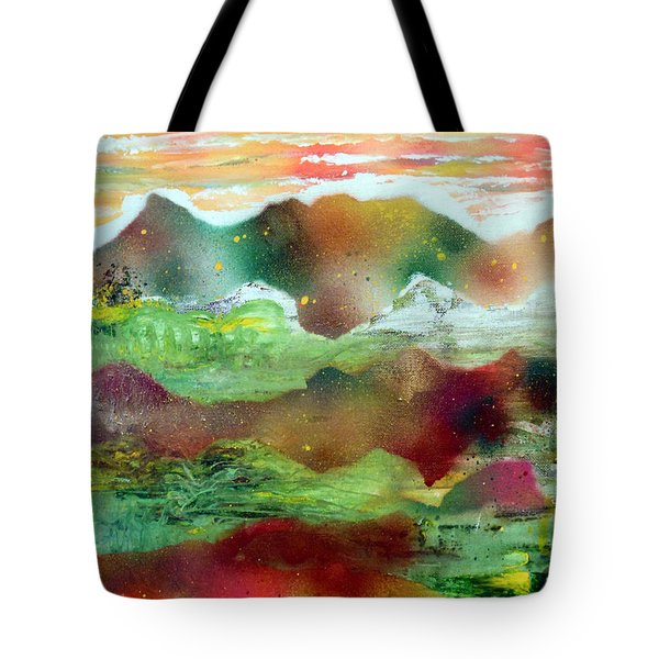 Painted Plateau Tote Bag