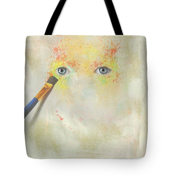 Painted Portrait Tote Bag by Jim  Hatch