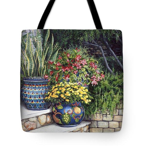 Painted Pots Tote Bag