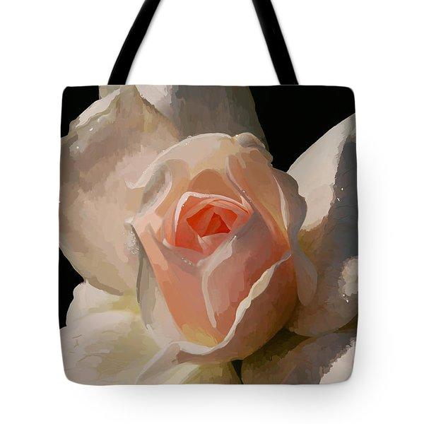 Painted Rose Tote Bag by Lois Bryan