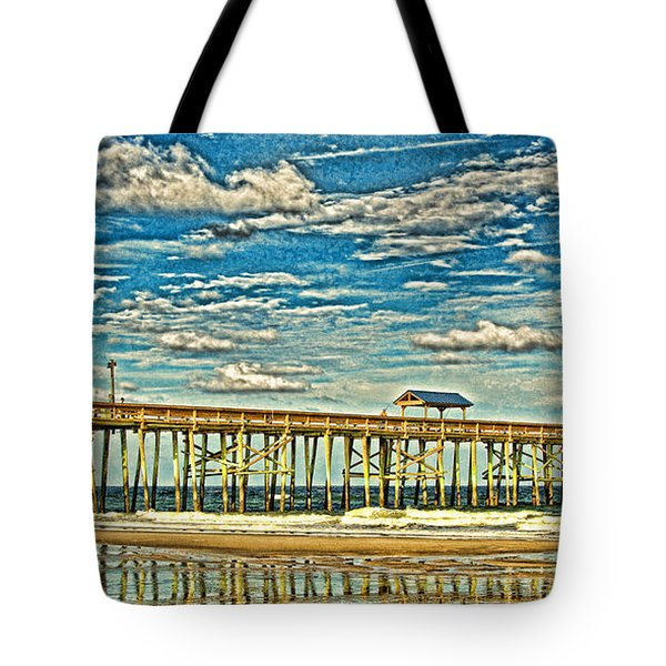 Surreal Reflection Pier Tote Bag by Paula Porterfield-Izzo