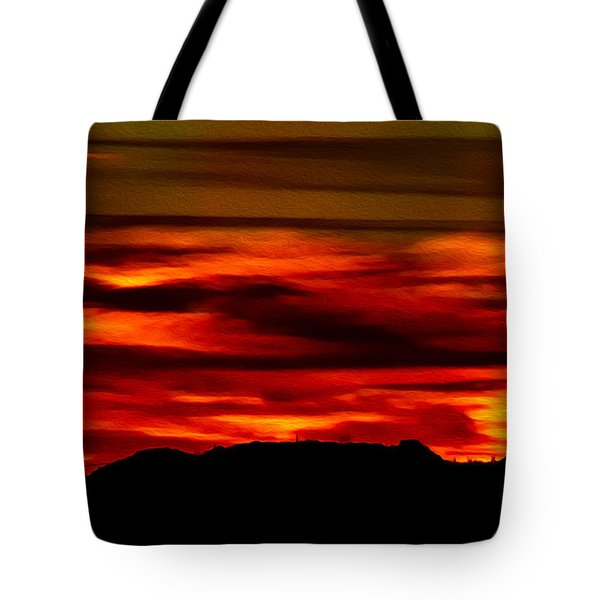 Tote Bag featuring the photograph Painted Sky 34 by Mark Myhaver