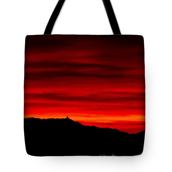 Tote Bag featuring the photograph Painted Sky 36 by Mark Myhaver