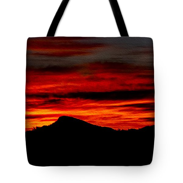 Tote Bag featuring the photograph Painted Sky 45 by Mark Myhaver