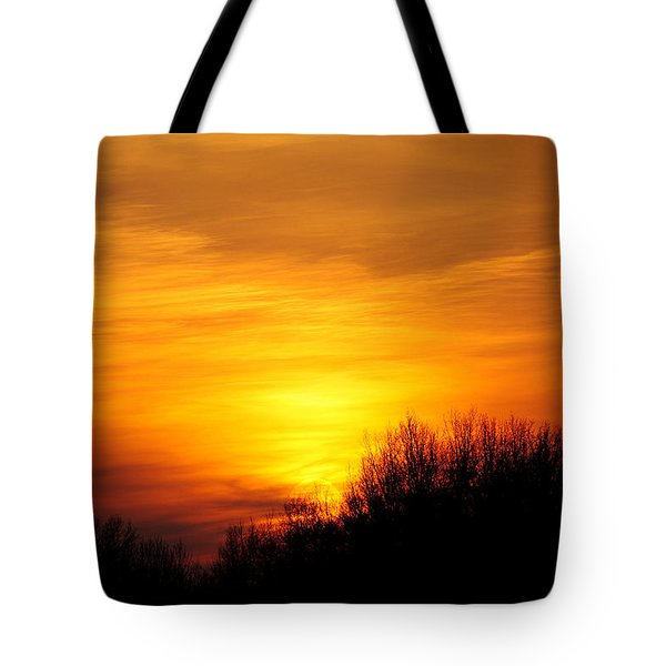 Painted Sky Tote Bag by Frozen in Time Fine Art Photography