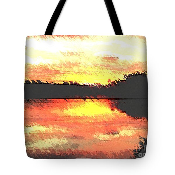 Painted Sunset Tote Bag