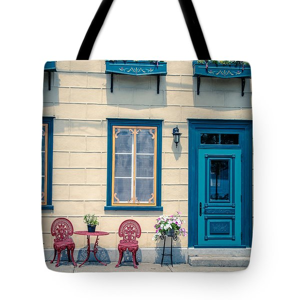 Painted Townhouse In Old Quebec City Tote Bag