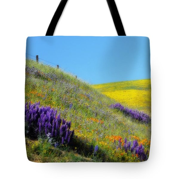 Painted With Wildflowers Tote Bag by Lynn Bauer