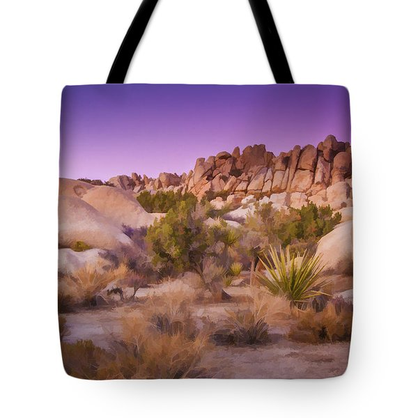 Painterly Desert Tote Bag