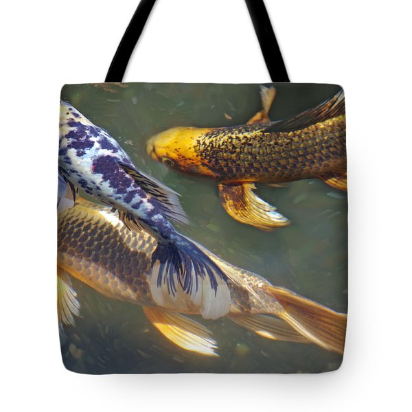 Painterly Fishpond Tote Bag by Adria Trail