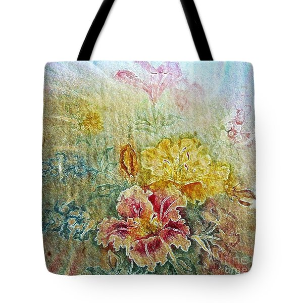 Painterly Floral Tote Bag by Judy Palkimas