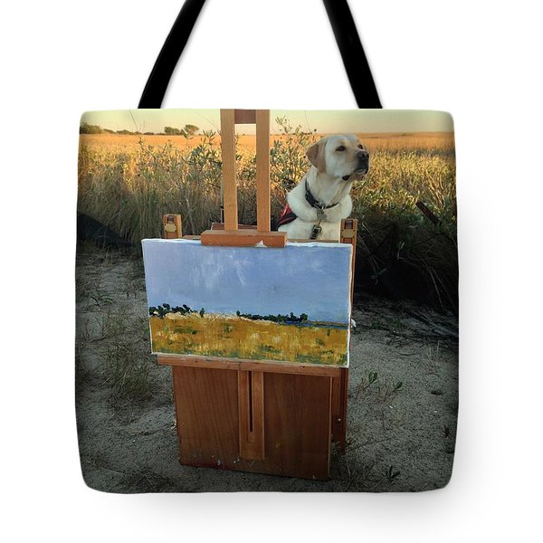 Painterly Lab Tote Bag by Mary Ward