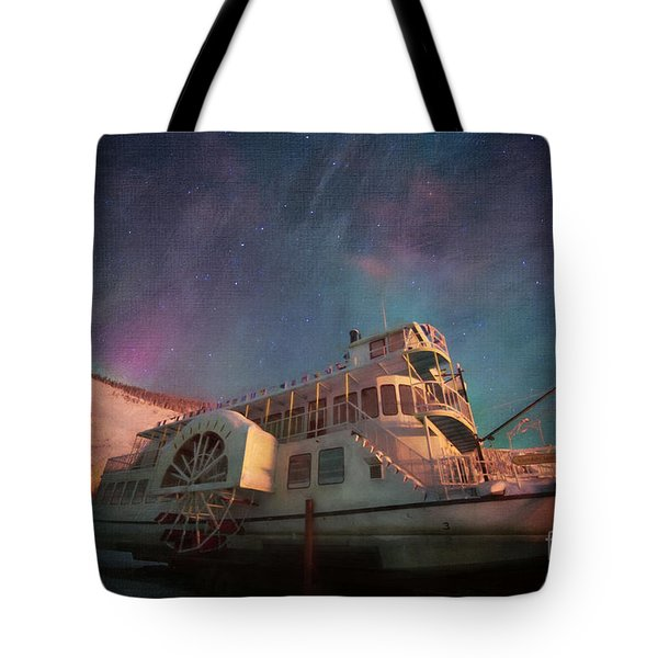 Painterly Northern Lights Tote Bag