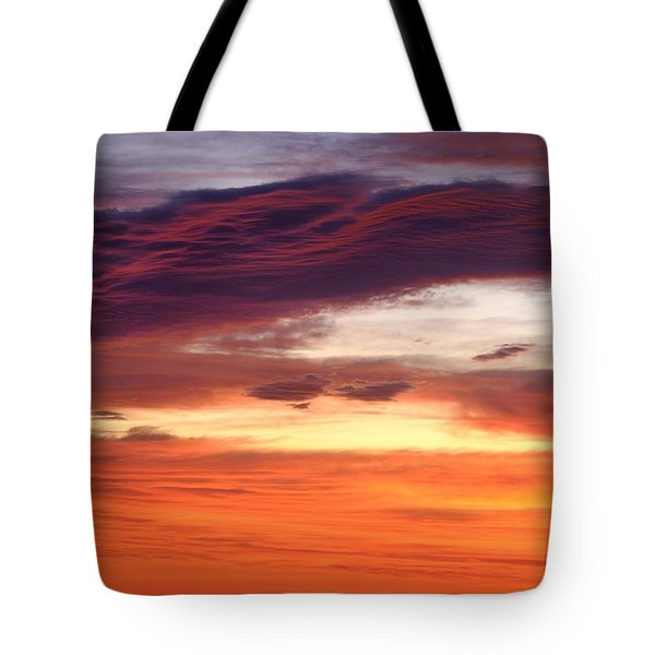 Painterly Sunrise On The Blue Ridge Parkway Tote Bag by Photography  By Sai