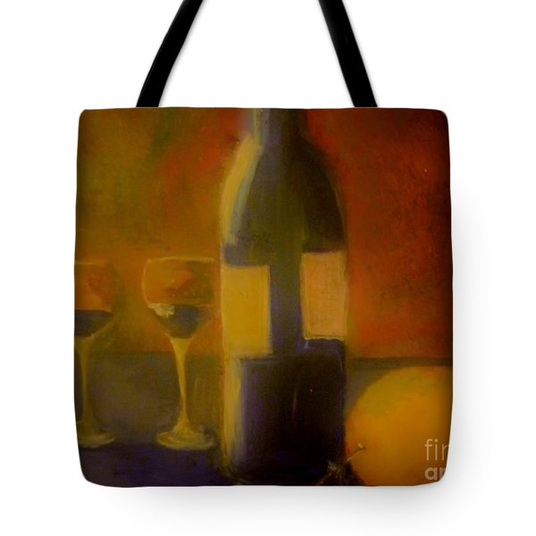 Painting And Wine Tote Bag by Lisa Kaiser