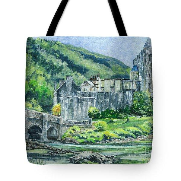 Eilean Donan Medieval Castle Scotland Tote Bag by Carol Wisniewski
