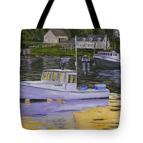 Fishing Boats In Port Clyde Maine Tote Bag
