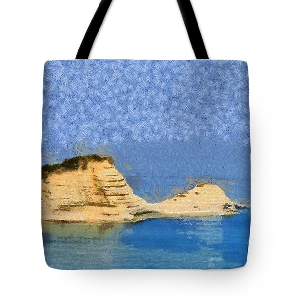 Islet In Peroulades Area Tote Bag
