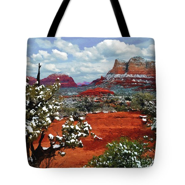 Painting Secret Mountain Wilderness Sedona Arizona Tote Bag