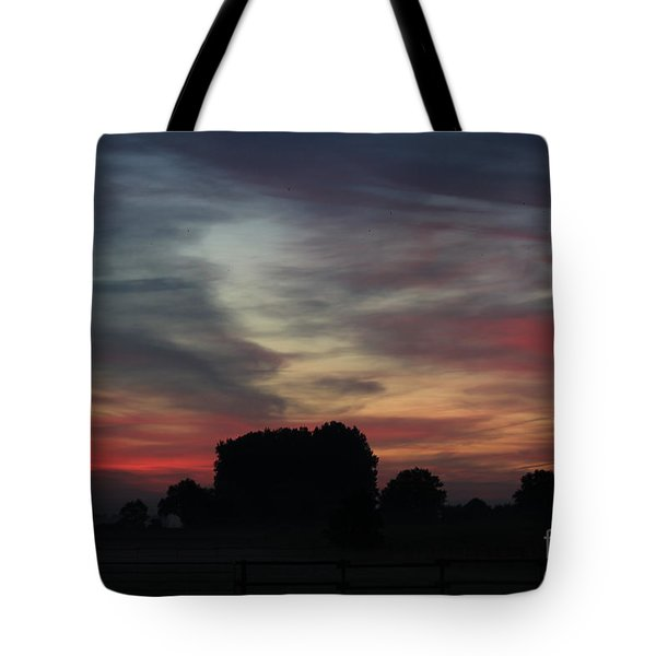 Painting Sunrise By Nature Tote Bag