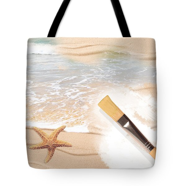 Painting The Beach Tote Bag by Amanda Elwell