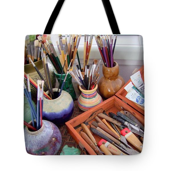 Painting Work Table Tote Bag