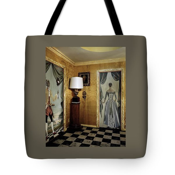 Paintings On The Walls Of Tony Duquette's House Tote Bag