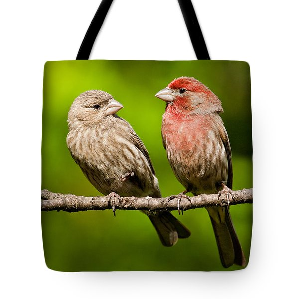 Pair Of House Finches In A Tree Tote Bag