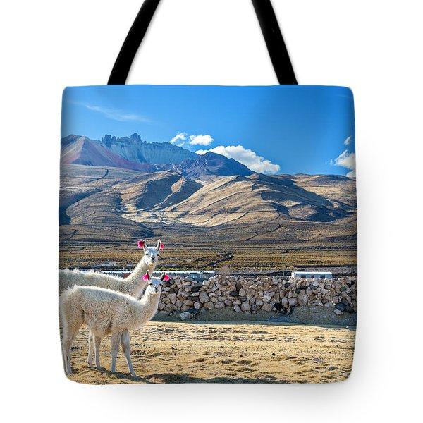 Pair Of Llamas Tote Bag