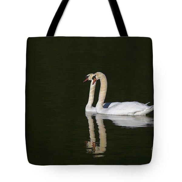Pair Of Mute Swans Tote Bag