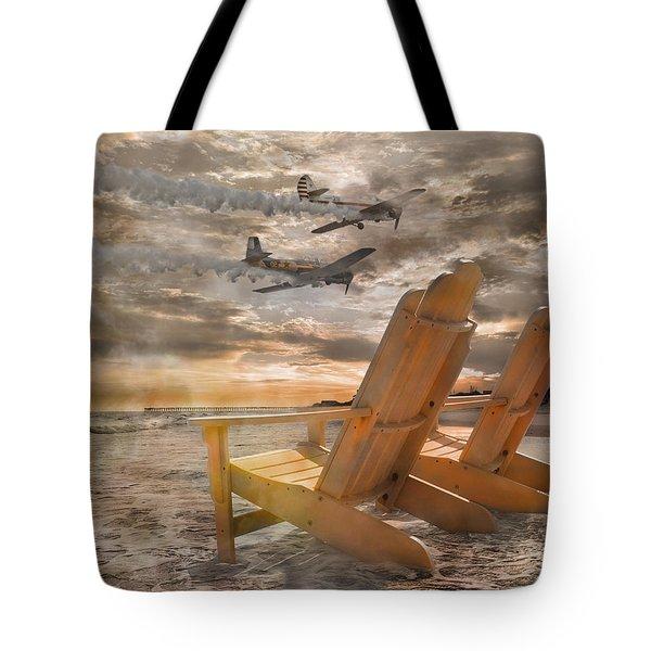 Pairs Along The Coast Tote Bag by Betsy Knapp