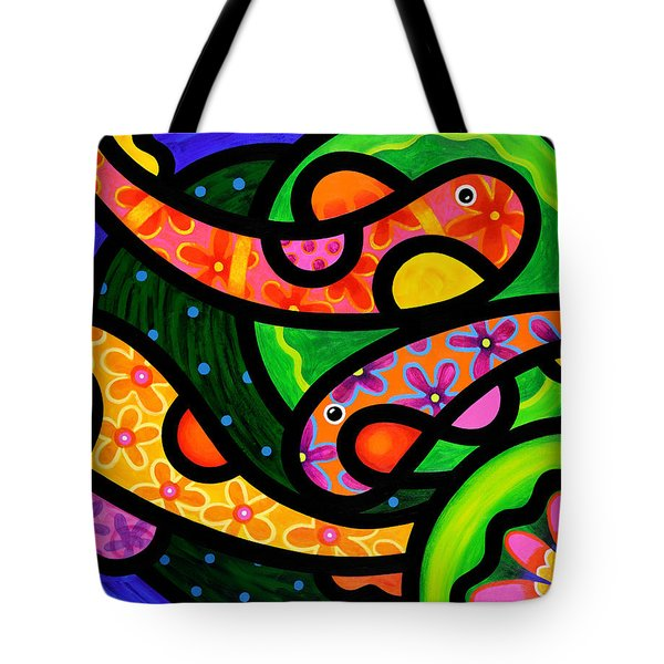 Paisley Pond - Horizontal Tote Bag