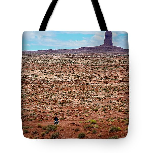 Paiute Road Tote Bag by Britt Runyon