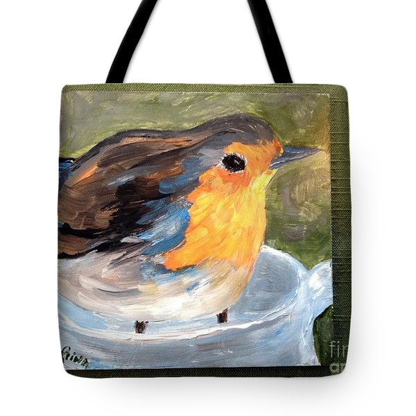 Tote Bag featuring the painting Pajarito  by Reina Resto