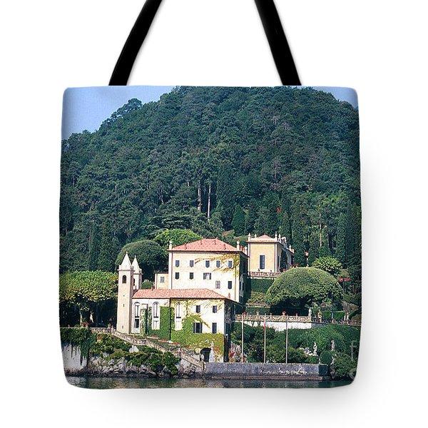 Palace At Lake Como Italy Tote Bag