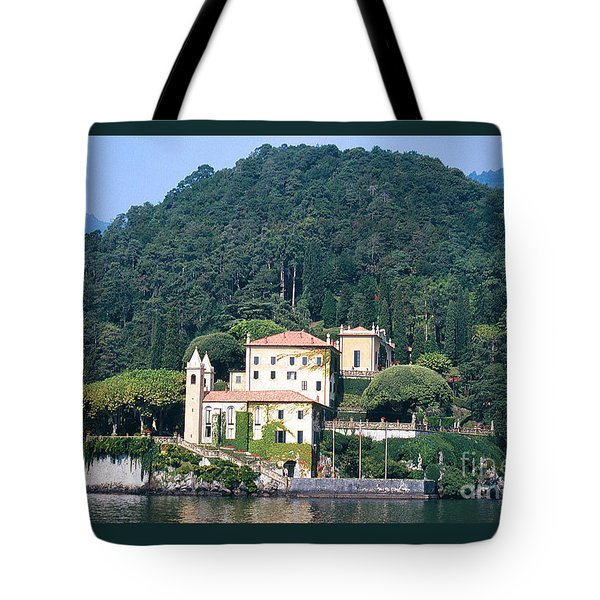 Tote Bag featuring the photograph Palace At Lake Como Italy by Greta Corens